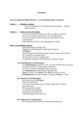Deutsch - Merkblatt zur Erstellung einer Inhaltsangabe, Klasse 7