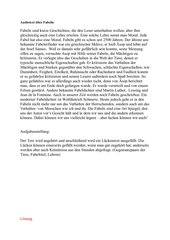 Lückentext Fabeln/LZK Klasse 6