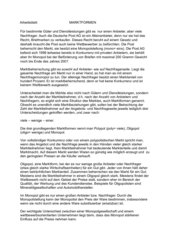 Arbeitsblatt Thema: Marktformen
