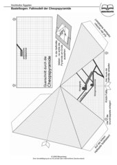 Bastelbogen / Aufklappmodell: Querschnitt Cheopspyramide