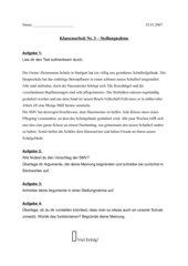 Aufsatz zum Thema Stellungnahme
