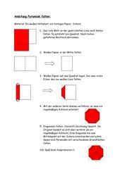 Anleitung Pyramide falten