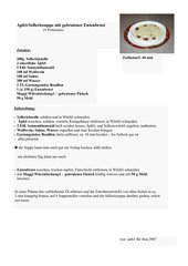 Apfel-Selleriesuppe mit gebratener Entenbrust