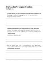 3 Aufgaben zur Instandsetzung