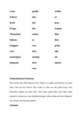 Wiederholung und Erweiterung der Wortarten