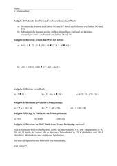 Klassenarbeit - 5. Klasse, NRW