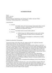 Stundenentwurf Klasse 7: Addition rationaler Zahlen