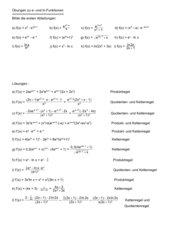 Ableiten von e- und ln - Funktionen