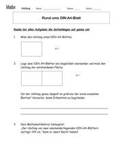 Umfang bei DIN-A4-Blättern