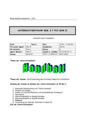 Der Fallwurf im Handball
