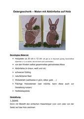 Ostergeschenk - Malen mit Abtönfarbe auf Holz