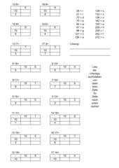 AB Zahlen multiplizieren in Tabellenform