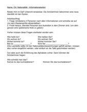 DaF-Anfänger- Spiel Name-Ort-Land-Nationalität
