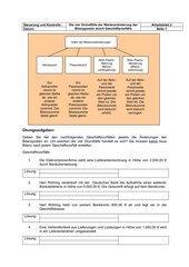 Bilanzveränderung - 4 Arten