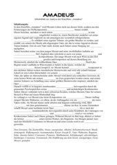 begleitendes Arbeitsblatt zum Film Amadeus