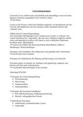 Unterrichtsprinzipien