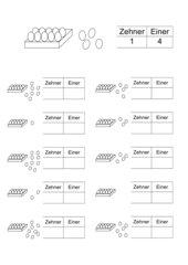 Einführung des Zahlenraumes bis 20