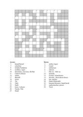 Kreuzworträtsel zu Highlight 1 Unit 3