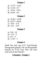 Addition und Subtraktion von Dezimalbrüchen