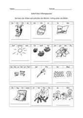 Silbenpuzzel Ostern 2.Schuljahr