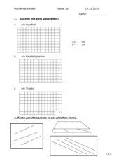 Mathematikarbeit Klasse 3