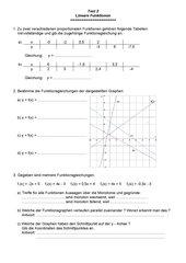 kleiner Test zu linearen Funktionen