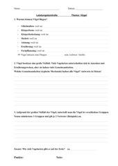 Leistungskontrolle Vögel Klasse 5 (Sachsen)