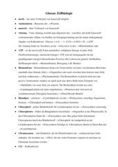 Glossar Zellbiologie