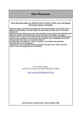 AB zu Henri Rousseau, 5/6 RS/HS, für Kunstordner der SuS