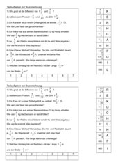Textaufgaben zur Bruchrechnung