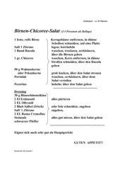Birnen-Chicoree-Salat