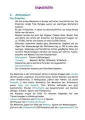 Urgeschichte-Altsteinzeit
