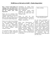 Apostel Paulus - Bericht über seinen Tod aus einer römischen Zeitung - Folie zum Einstieg
