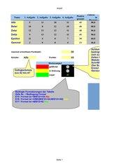 Schülernotenampel mit WENN-DANN-SONST; Gültigkeitsliste und bedingter Formatierung