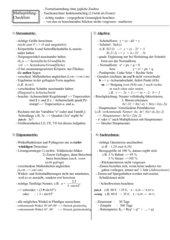 Prüfungs-Checkliste RS-Abschlussprüfung Mathematik