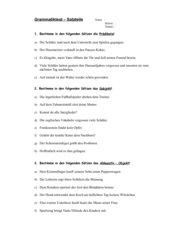 Grammatiktest: Satzteile