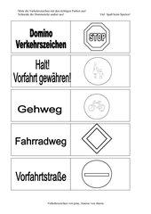 Domino Verkehrszeichen