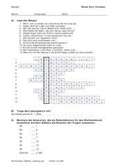 Herz / Kreislauf: Risikofaktoren (Rätsel)