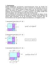 Einführung zu binomischen Formeln