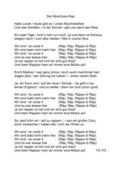 Rap-Song Abschlußfeier Klasse 4