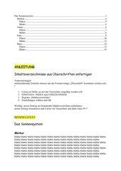 Einfügen eines jederzeit aktualisierbaren Inhaltsverzeichnisses in umfangreiche WORD-Dateien