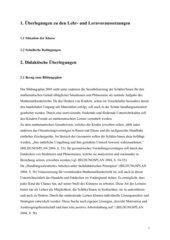 Unterrichtsentwurf Würfelnetze Klasse 3