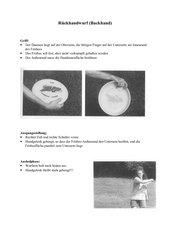 Dreifingerwurf und Rückhandwurf beim Ultimate-Frisbee