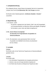 UV Kunst/Fingerdruck 3.Klasse