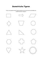 Symmetrieachsen in geometrische Figuren einzeichnen
