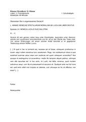 2 Klausuren Grundkurs Latein (2. FS)