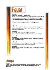 Partnerarbeit zum Thema Feuer Klasse 6
