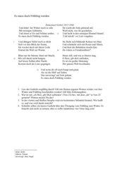 Lyrik 6. Klasse Klassenarbeit