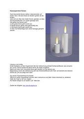 Hausexperiment Kerzen