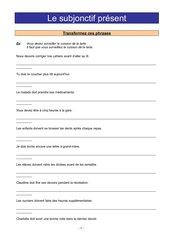 subjonctif présent - exercices